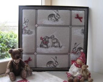 Jumble nursery fabric printed rabbits