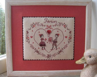 Frame for the person you love embroidered heart print