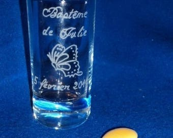 Set of 6 engraved and personalized candy containers