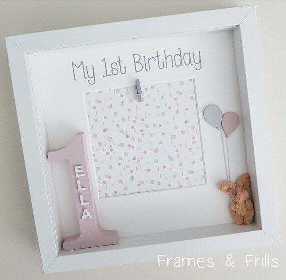 Girls 1st Birthday Frame