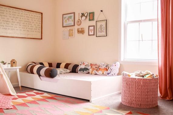 GroBartig Kleinkind Holz Box Boden Bett Montessori Plattform Kinder Bett | Etsy