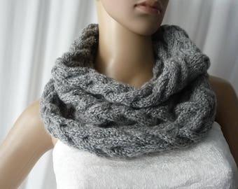 3a3d499c14e3 snood tricot, snood laine, tour de cou tricot, écharpe fermée, tricot fait  main,