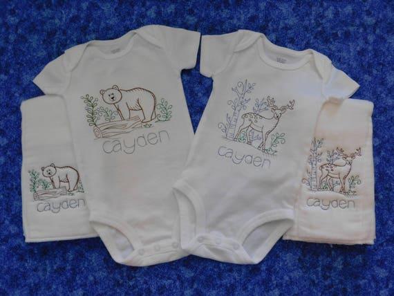 Personalised Onesie,hat,burp cloth,personalised organic baby blanket,Baby boy embroidered onesie baby boy gif baby gift,coming home onesie