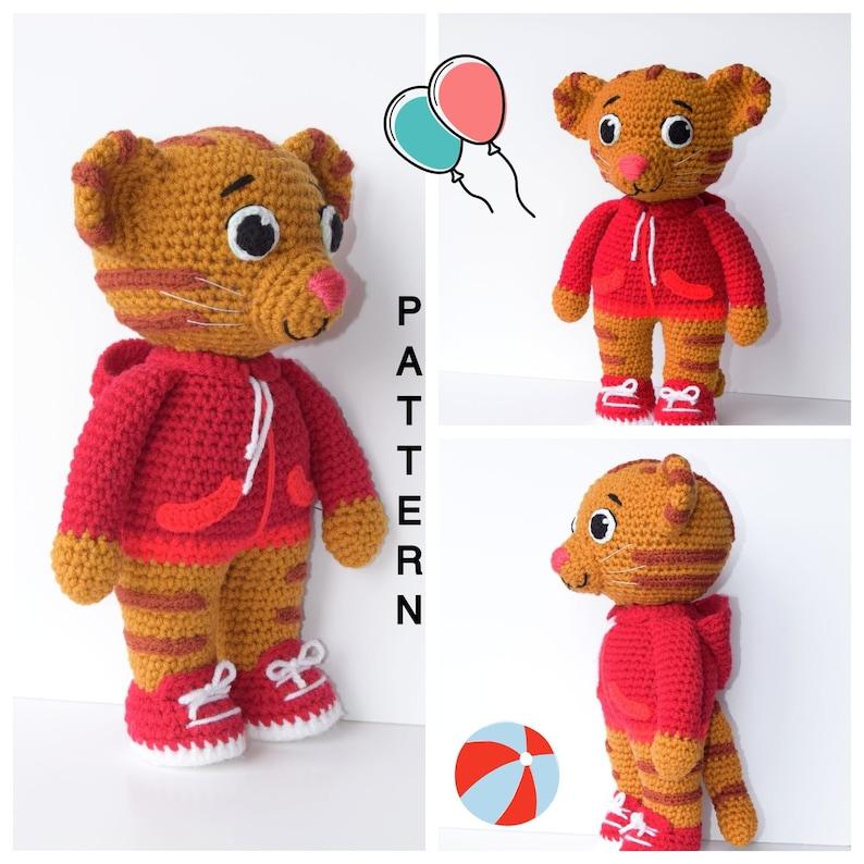 Daniel Tiger Amigurumi Pattern Daniel Tiger Crochet Doll  7c37f02e0a0