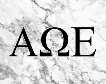 Alpha Omega Epsilon 3' x 5' Flag