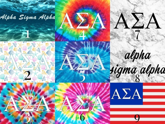 Alpha Sigma Alpha Watercolor Floral 5 x 5 Sticker