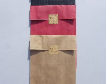 ASSORTMENT of 15 pockets kraft paper gift tags is hand made tags handmade, gift wrapping, packaging, chicdepanne supplies +