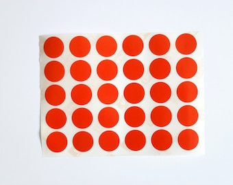 30 red round 2 cm pellets PELLETS adhesive pads sticker gift signage Christmas packaging supply