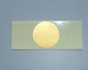 50 pads gift gold stickers 3.5 cm round coin gold stickers coin Gold 3 cm lozenge gift wrapping or packaging