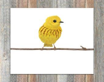 Yellow Warbler Bird Print