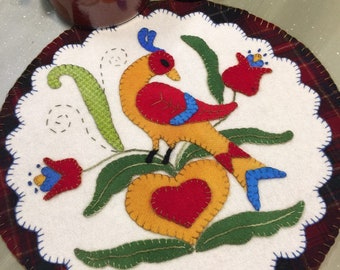Happiness Hex wool applique kit