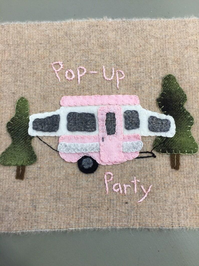 PopUp Party Wool Appliqu\u00e9 block