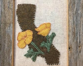 Digital Pattern only! California State wool block!