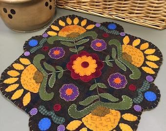 Kaleidoscope Summer wool appliqué kit