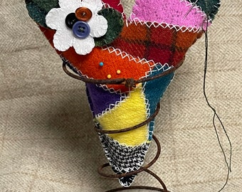 Crazy Heart Pincushion Kit includes bedspring!