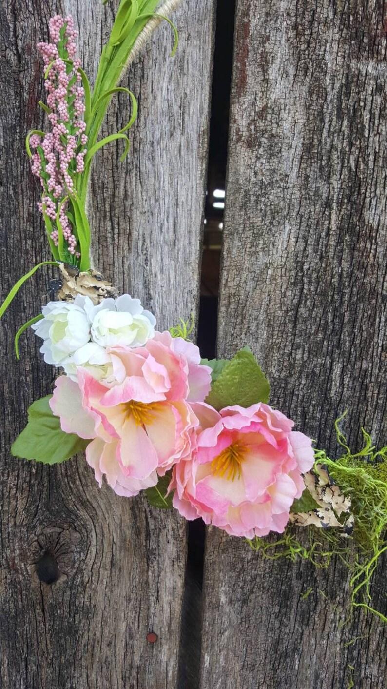 Floral hoop wreath