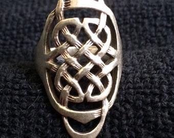 Vintage Sterling Celtic Knot Ring