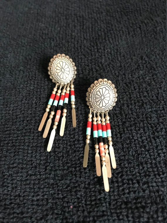 Carolyn Pollack Concho Earrings