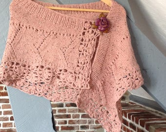 "Shawl hand knitted, Collection ""Bodach an storr"""