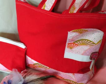 Duo Tote with red and pink Kit