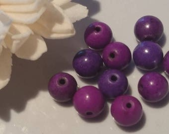 Set of 10 pearls of Bohemia 8 mm approx