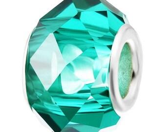 Pearl Crystal glass Blue Peacock Bracelet 14x9mm Pr