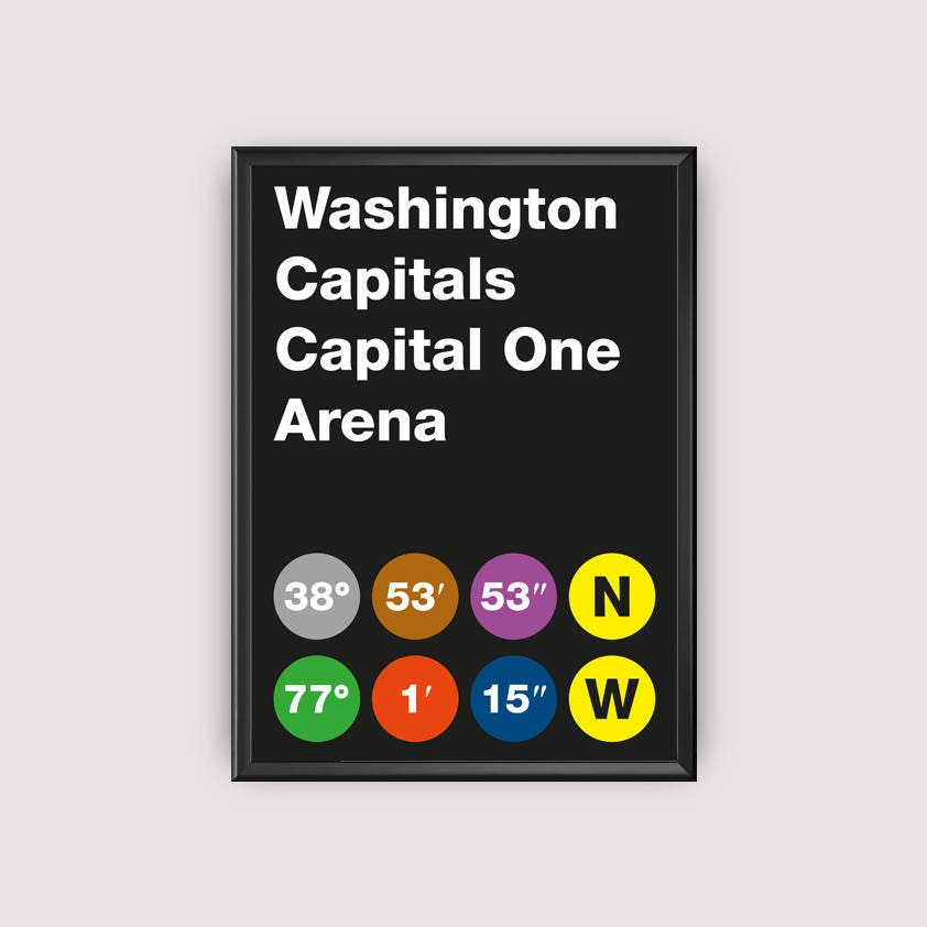 photo regarding Washington Capitals Schedule Printable identify Washington Capitals Stadium Coordinates Printable Poster - Wall Artwork Typography Print Poster, Minimalist Poster, Hockey Poster, NHL, Obtain