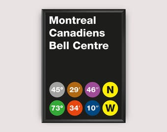 Montreal Canadiens Coordinates Printable Poster - Wall Art Typography Print Poster, Minimalist Poster, Hockey Poster, NHL, Download