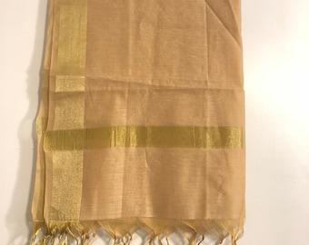 Raw Silk plain Dupattas