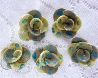 CREATING JEWELRY RINGS CLAY FLOWERS