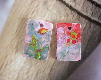 """CHARMS """"FLORAL"""" DESIGN EARRINGS"""