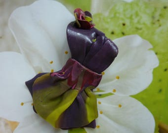 PLUM DRESS AND PETTICOAT CREATING POLYMER CLAY