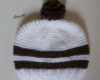handmade baby bonnet.