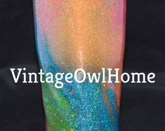 Rainbow Swirl Tumbler
