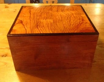 Wooden Box Bubinga/Ebony