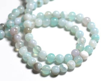 20pc 8741140000483 Perles de Pierre Agate gris noir Mat Boules 6mm