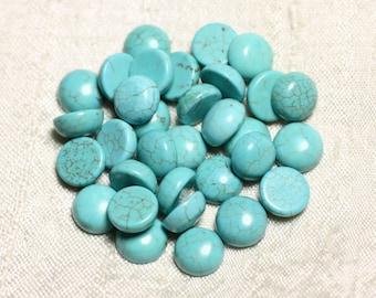 Bleu tendre Bague cabochon 20 mm esprit Maroc bleu turquoise