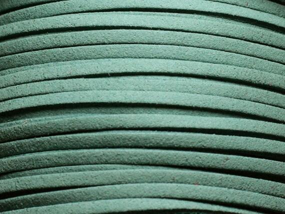 Cordon Lanière Suédine 3x1.5mm Bleu Turquoise   4558550004697 5 mètres