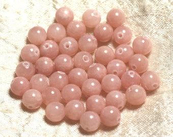 Stone - Jade 8mm 4558550005595 peachy pink beads 10pc-
