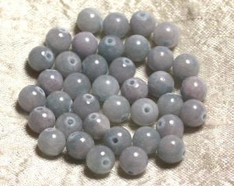 Stone - Jade Blue Pink 8mm 4558550007766 beads 10pc-