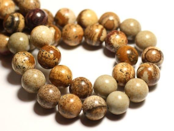 Jasper matte black sand frosted balls 10 mm Wire 39cm 39pc env 8741140025875 stone beads
