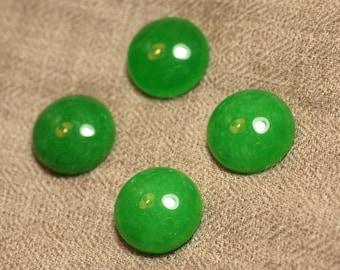1pc - stone - Jade green 4558550027344 20mm round Cabochon