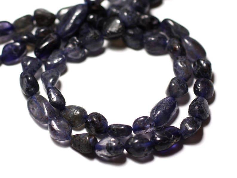 8741140011656 beads 10pc- Iolite Cordierite Olives 7-14mm Stone