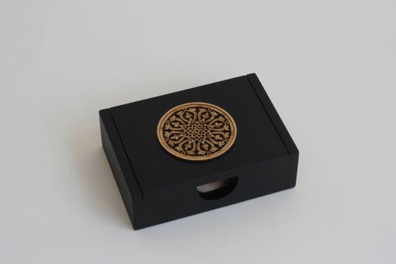 Luxus Holz Visitenkarten Etui Vielseitige Holzkiste Behälter Für Ringe Stifte Ohrringe Oder Schmuck Mit Komplizierten Geometrischen Design
