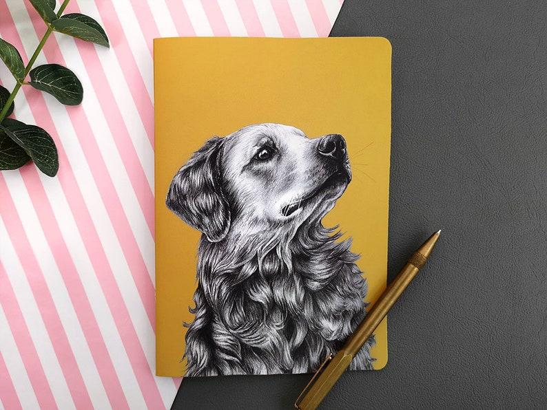 Golden Retriever Notebook Gift//Present Dog