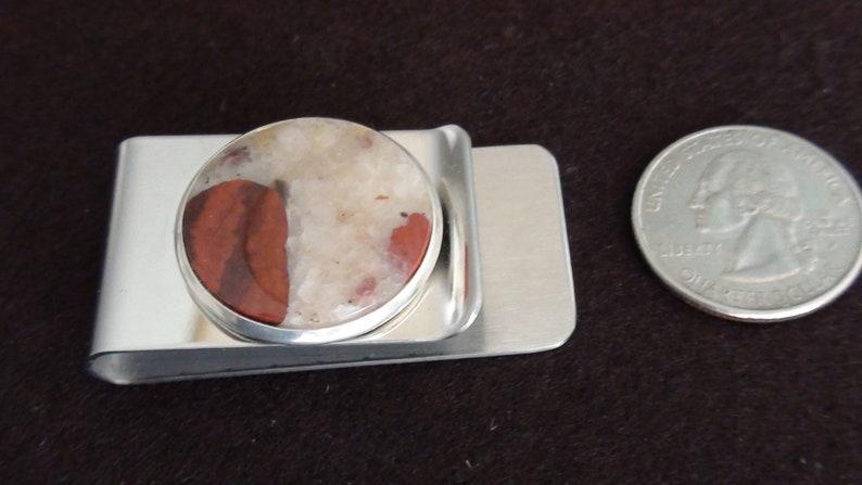 Michigan Puddingstone Money Clip