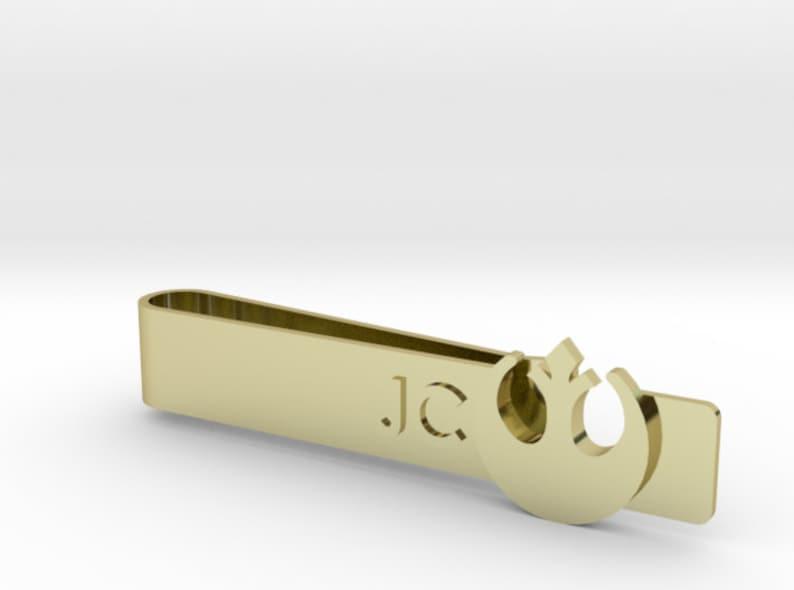 Bitcoin Cash Wedding Tie Bar Personalized Engraving Bronze | Rose Gold Silver Justice League Superhero Tie Clip Gold
