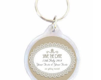 Key chain wedding Save the date