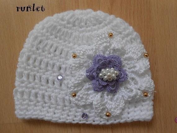 6befb0f1a0a3 bonnet bébé crochet,bonnet bébé cérémonie fête,bonnet bébé blanc,bonnet  bébé fleur