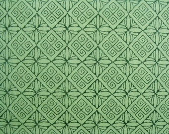 Set of 3 sheets of paper Decopatch patterns geometric green and grey tones